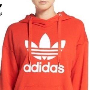 Red/Orange Adidas Trefoil Hoodie 🦋